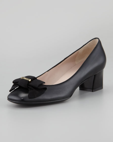 My Muse Leather Bow Pump