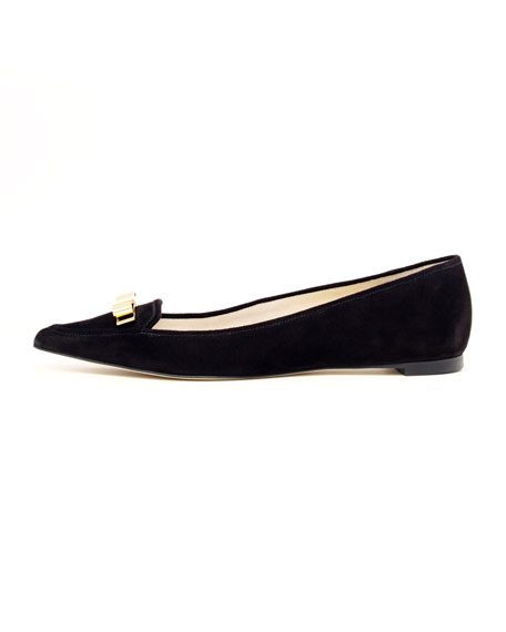 Vivienne Pointed-Toe Suede Flat