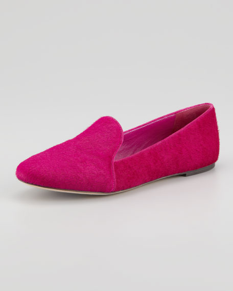 Claudelle Calf Hair Smoking Slipper