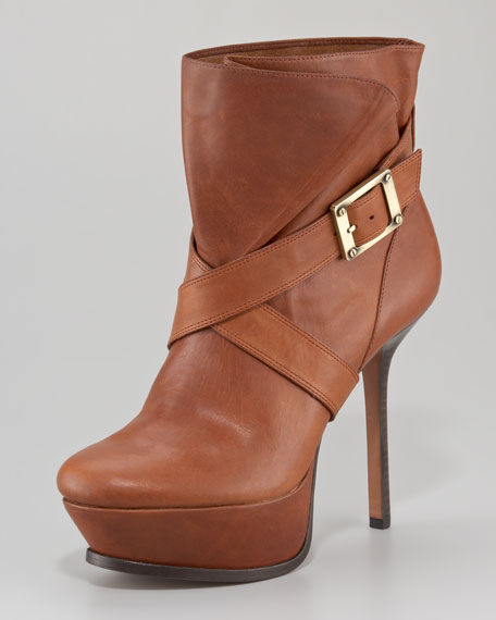 Michelle Platform Leather Boot