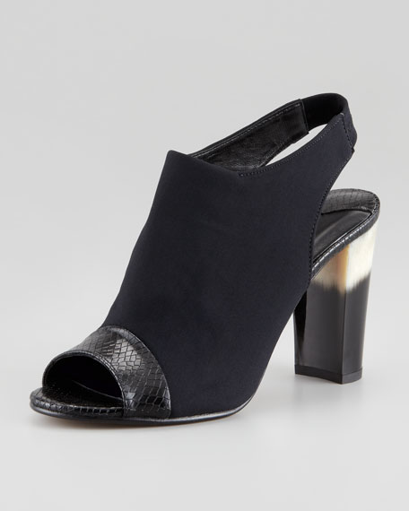 Mink Stretch Crepe Slingback with Ombre Heel