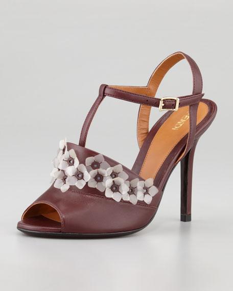 Anemone T-Strap Jelly-Flower Sandal