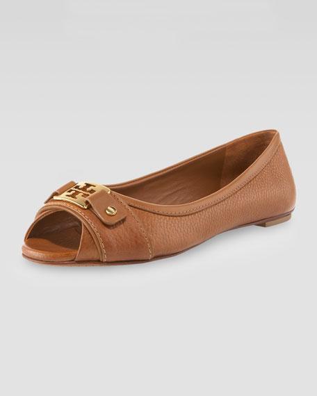 Clines Peep-Toe Ballerina