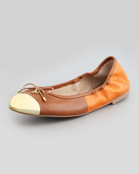 Fairleigh Cap-Toe Ballerina Flat