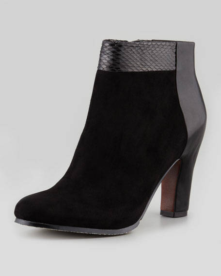 Shay Mixed-Leather Bootie
