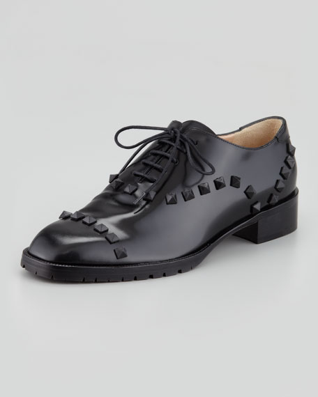Rockstud Leather Oxford