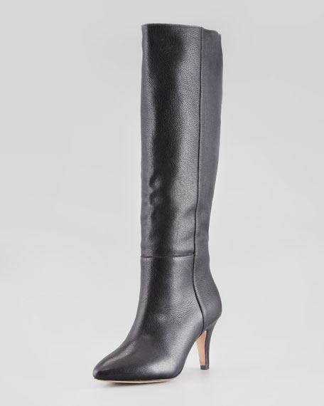 Viola Kitten-Heel Boot, Black