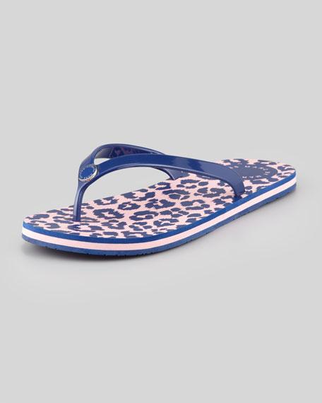 Rita the Cheetah Flip-Flop, Blue/Pink