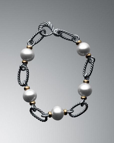 Pearl Figaro Link Bracelet