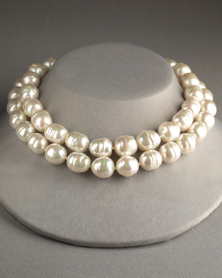 Double-Strand Pearl Necklace