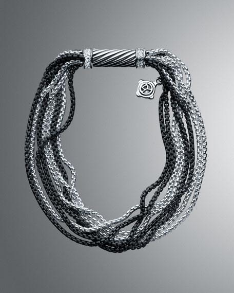 Pave Graphite Ice Multi-Row Bracelet