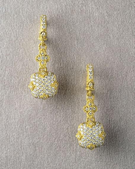Pave Cushion Earrings