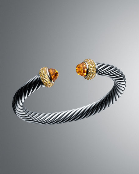 7mm Citrine Cable Candy Bracelet