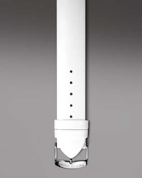 White Patent Leather Strap, 20mm