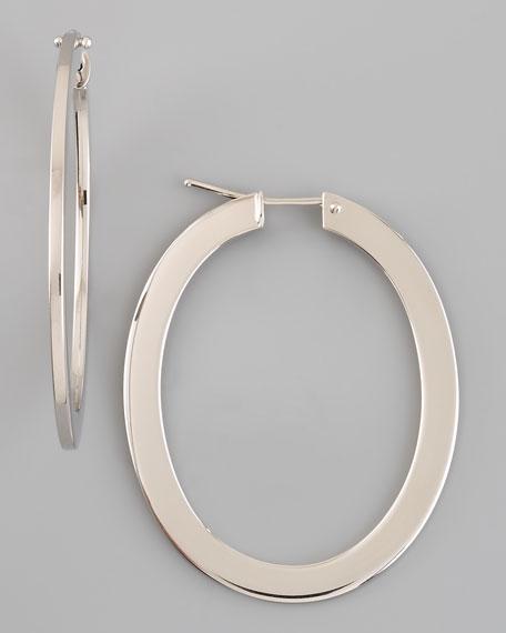 Ellipse Earrings, White
