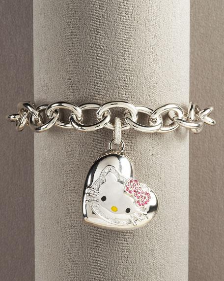 Sterling Silver Kitty Bracelet