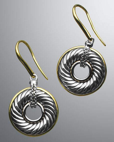 Cable Disc Earrings