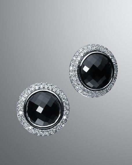 12mm Black Onyx Cerise Earrings