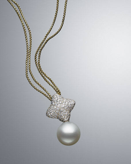 Quatrefoil Necklace, Pearl, 14mm
