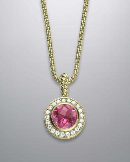 8mm Pink Tourmaline Petite Albion Necklace