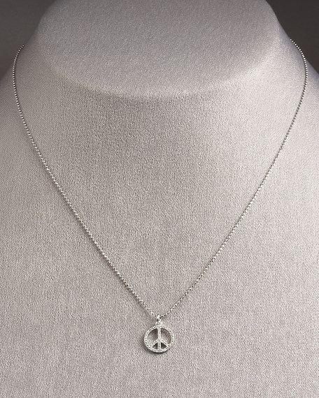 Peace Sign Necklace, Small
