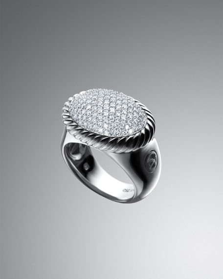 DY Signature Oval Ring with Diamonds