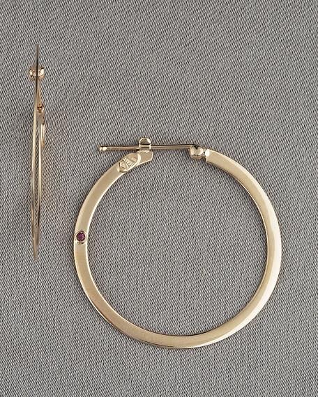 Hoop Earrings, Rose Gold