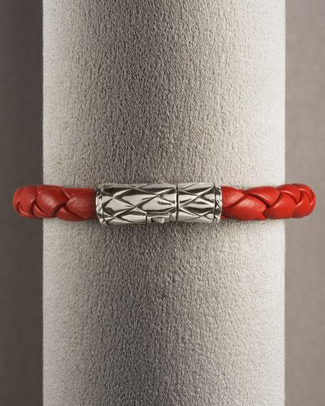 Naga Red Leather Bracelet
