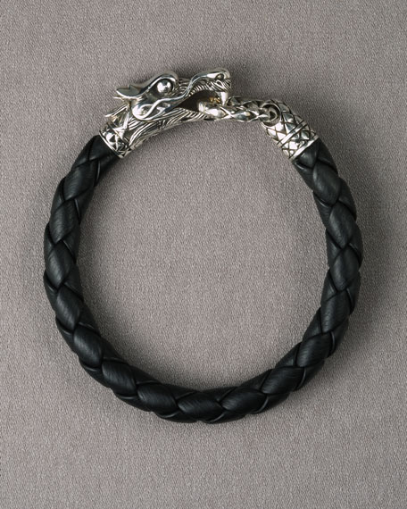 Naga Dragon Leather Bracelet