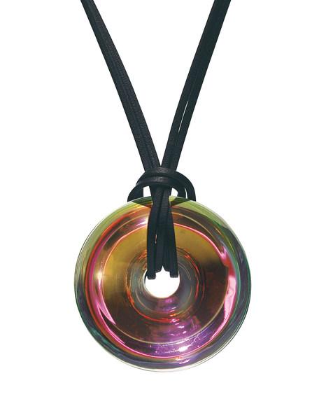 Pink B Spirit Pendant Necklace, Small