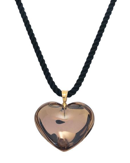Romance Heart Pendant, Gold Mordore
