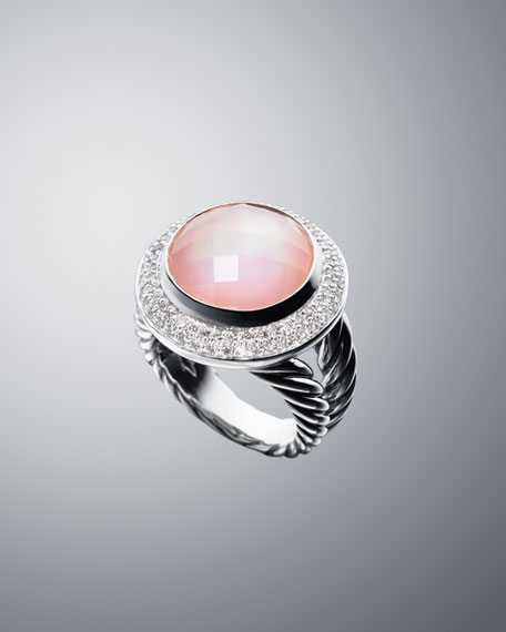 14mm Rose Quartz Cerise Ring