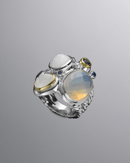 Multi-Stone Oval Mosaic Ring