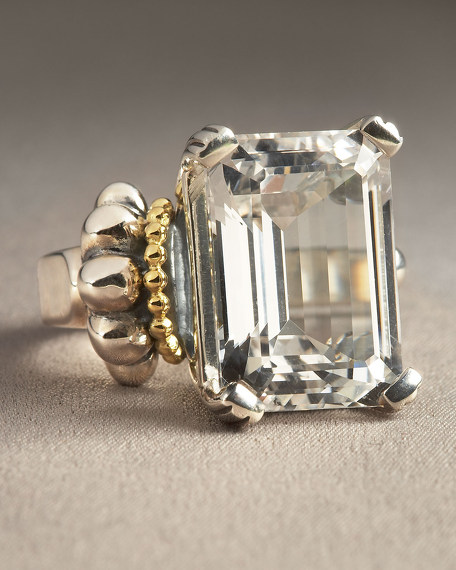 White Topaz Glacier Ring