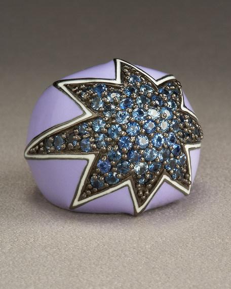 Sapphire Star Ring