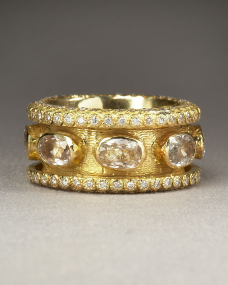 Diamond & White Sapphire Ring