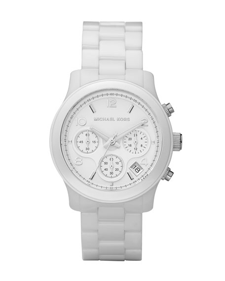 White Midsized Ceramic Watch