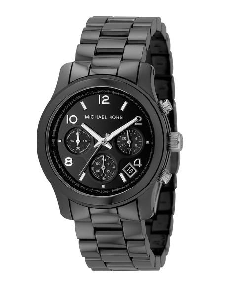 Black Midsized Ceramic Watch