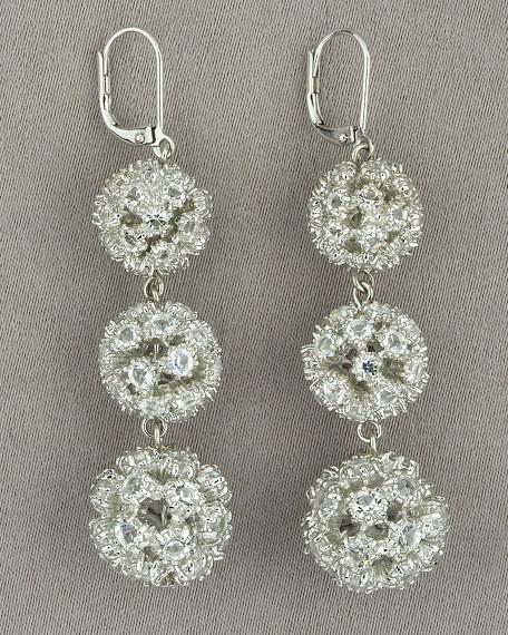 Pave Ball Earrings