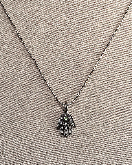 Black Hasma Necklace
