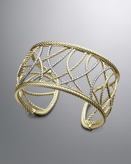 Pave Diamond Lattice Cuff Bracelet