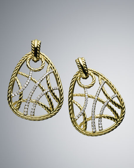 Pave Diamond Lattice Earrings