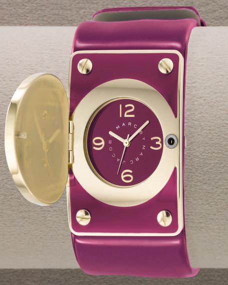 Turn-Lock Watch, Merlot