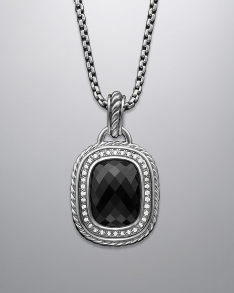 Wheaton Pendant with Black Onyx and Diamonds