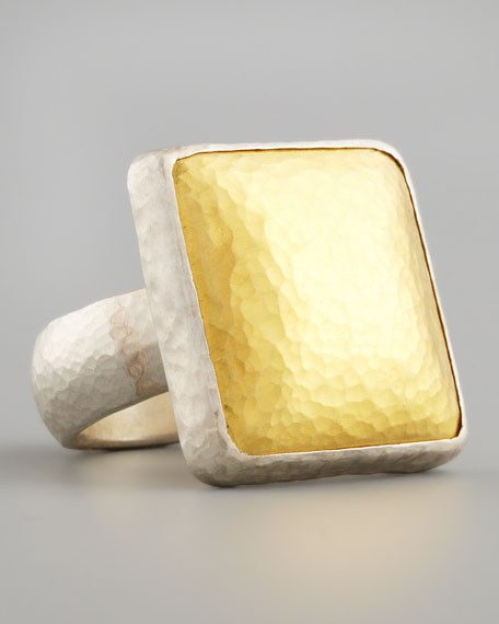 Gurhan Gold Square Ring