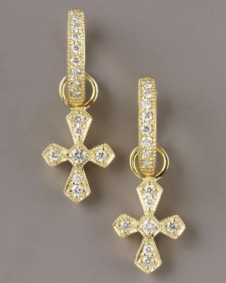 Diamond Cross Charms