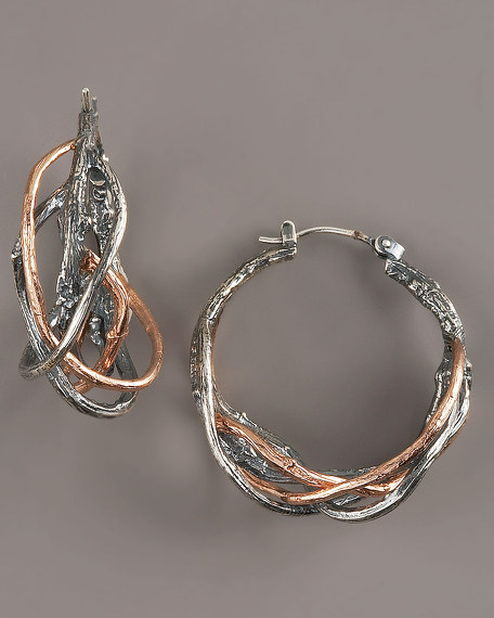 Rose Twig Earrings
