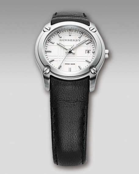 Leather-Strap Watch