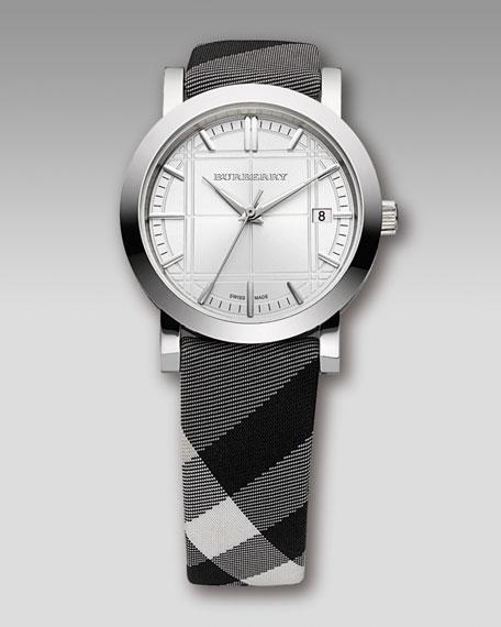 Check-Strap Watch