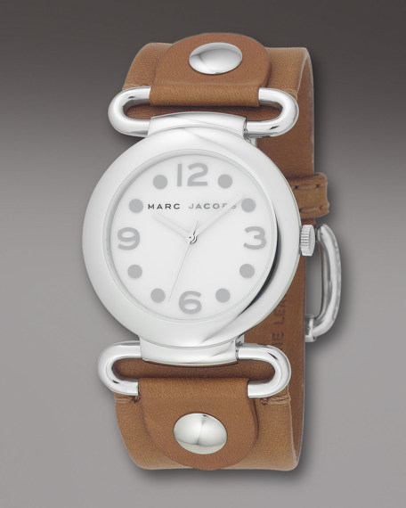 Molly Watch, Brown & Silver
